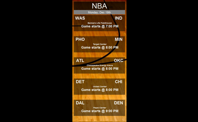 NBA Side Bar Slide 1