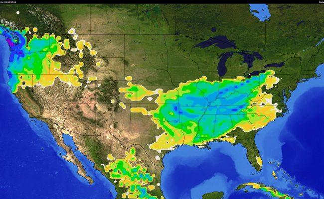 National Rain fall map