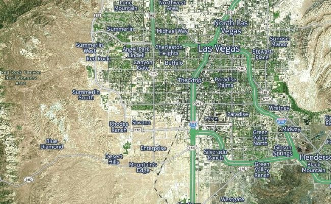 Las Vegas Traffic Satellite View